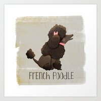 poodle Art Prints featuring Poodle by 52 Dogs
