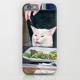 Woman yelling at cat Meme #16 iPhone Case