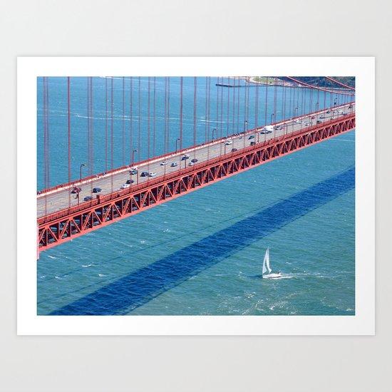 Under the Golden Gate Art Print