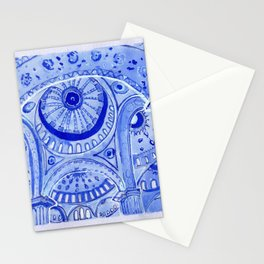 Blue Mosque in Istanbul (Angry Stitch) Stationery Cards
