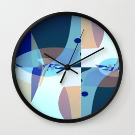 Abstract Fractal Art - Quistere- Cubism- Picasso Art Wall Clock