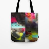 acid Tote Bags featuring acid by AcerbicAndrewArt