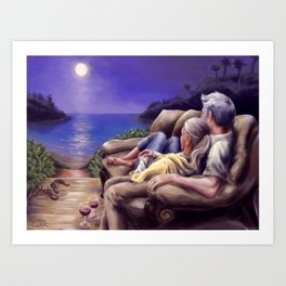 Growing Old Together Art Print