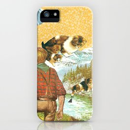 Don't Go Into the Water handcut collage iPhone Case