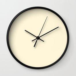 Asymmetrical Glow ~ Buttercream Wall Clock