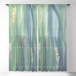 Mystic Floral Sheer Curtain