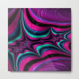 Attired Arsenal Fractal - Abstract Art Metal Print