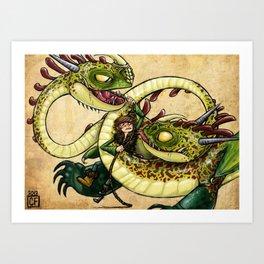 Hideous Hijinks Art Print