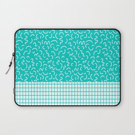 Hockney - Bright blue, memphis, 80s, 90s, swimming pool, summer turquoise design cell phone, phone  Laptop Sleeve