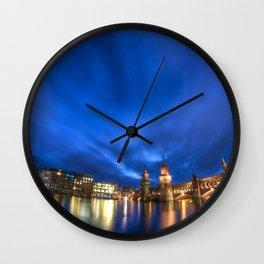 Spree night Wall Clock