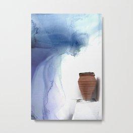 Blue Magic Pot Metal Print