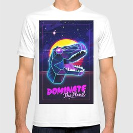 Electric Jurassic Rex - Dominate the Planet T-shirt