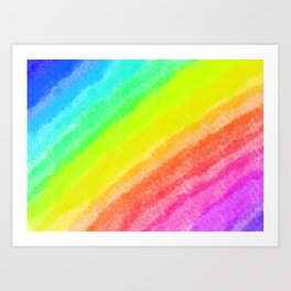 Colorful Rainbow  Art Print
