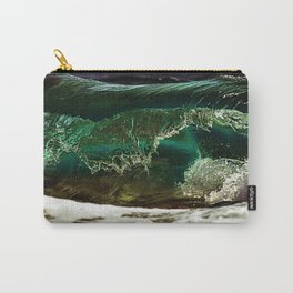 Glass-like Turquoise Waves Photography Carry-All Pouch
