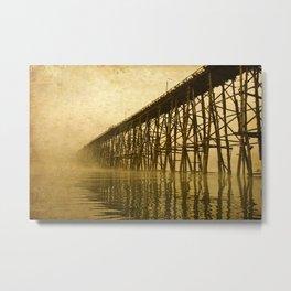 Old image of wooden bridge  Metal Print