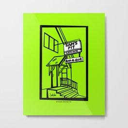 Sam's Pit Late Nite Bar B Que, Spokane, WA Metal Print