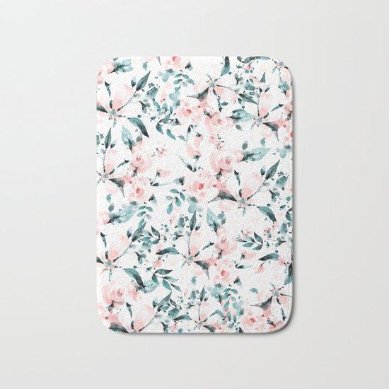 Flowers pattern 1 Bath Mat
