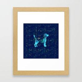 Decorative Beagle  dog Framed Art Print