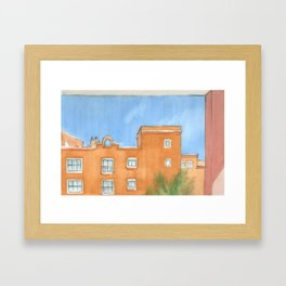 Canarian red Framed Art Print