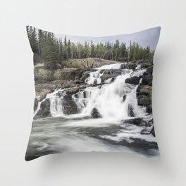 Rushing Waterfall Throw Pillow