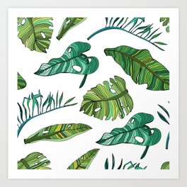 BANAN LEAVES Art Print