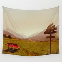 holiday Wall Tapestries featuring Vintage Holiday by Schwebewesen • Romina Lutz