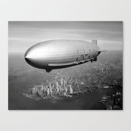 Airship over New York Canvas Print