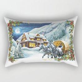 Christmas Winter Scene Rectangular Pillow