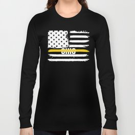 Ohio 911 Emergency Dispatcher Gift for Police, Fire and Ambulance Dispatchers Thin Gold Line Long Sleeve T-shirt