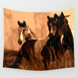 Horse Spirits Wall Tapestry