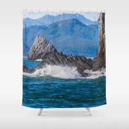 Pacific ocean bay Shower Curtain