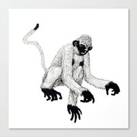 ape Canvas Prints featuring ape by rectify