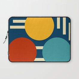 Three circles and lines Laptop Sleeve