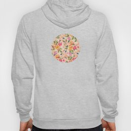 Golden Flitch (Digital Vintage Retro / Glitched Pastel Flowers - Floral design pattern) Hoody