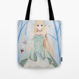 Fairy in the mysterious forest Tote Bag