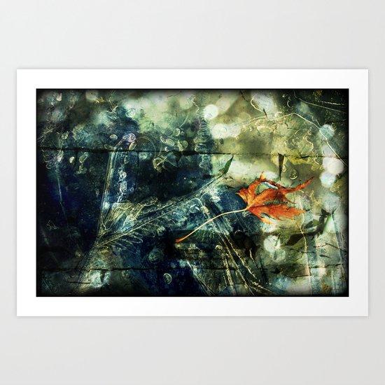 Beneath the Ice Art Print