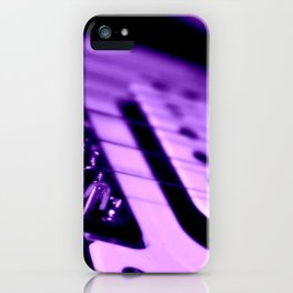 Guitar in Purple fine art photography iPhone Case