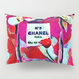 No 5 Pink Colored Pillow Sham