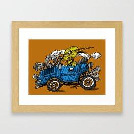 skull car Framed Art Print