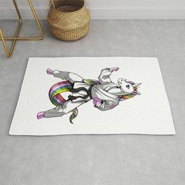 Unicorn Girl Karate Rug
