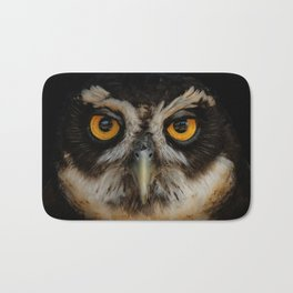 Trading Glances with a Spectacled Owl Bath Mat