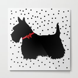 Christmas Scottie Dog Metal Print