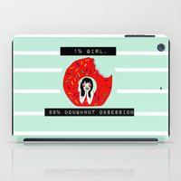 doughnut iPad Cases featuring Doughnut Obsession by Sarah Marie