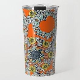 cirque fleur orange stone star Travel Mug