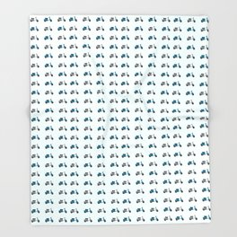 Lambretta GP Blue and White Throw Blanket