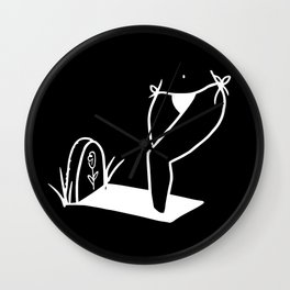 Foot in Grave Wall Clock