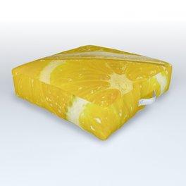 Juicy Lemon Slices Fruit Design Outdoor Floor Cushion