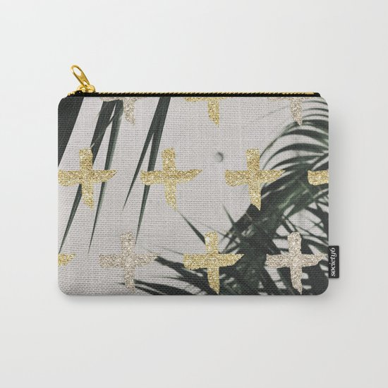 Palms with gold cross Carry-All Pouch