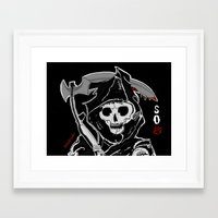 sons of anarchy Framed Art Prints featuring Sons Of Anarchy (Reaper) by ItalianRicanArt