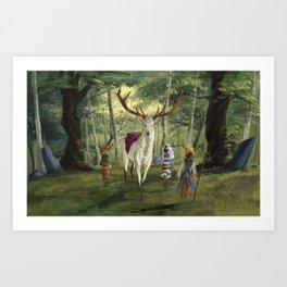 Seers Isle: The White Stag Art Print